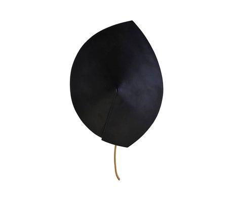 Housedoctor Wandlamp Leaf zwart staal ⌀23,8x32cm