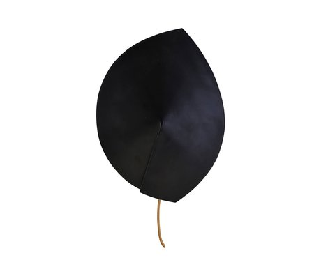 Housedoctor Wandleuchte Leaf aus schwarzem Stahl ⌀23,8x32cm