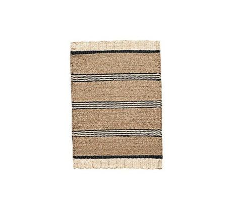Housedoctor Rug Beach brun herbe de mer noir et blanc 60x90cm