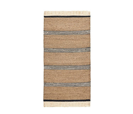 Housedoctor Rug Beach brown black and white sea grass 90x200cm