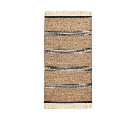 Housedoctor Teppich Strand braun schwarz und weiß Seegras 90x200cm