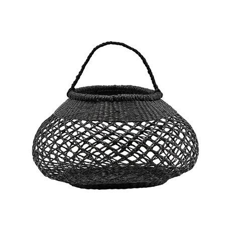 Housedoctor Mand basket zeegras zwart ⌀25x40cm