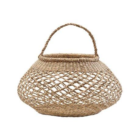 Housedoctor Mand basket zeegras naturel bruin ⌀25x40cm