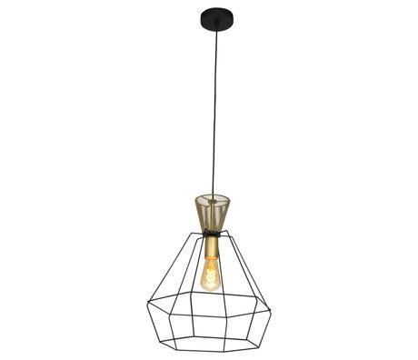 Anne Lighting Hanglamp Novac mat zwart metaal 38x38x178cm
