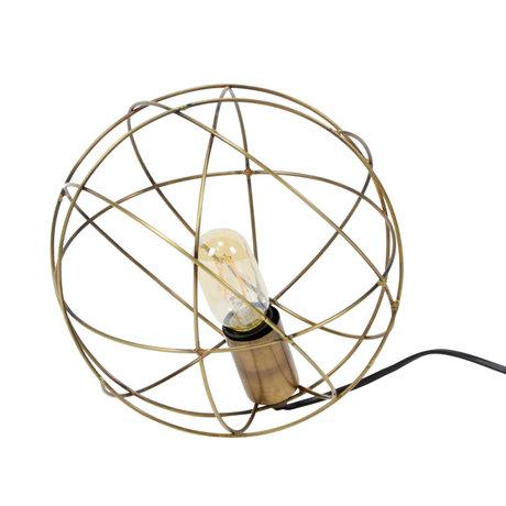 wonenmetlef Tischlampe Scarlett Antik Bronze Stahl Ø25x25cm