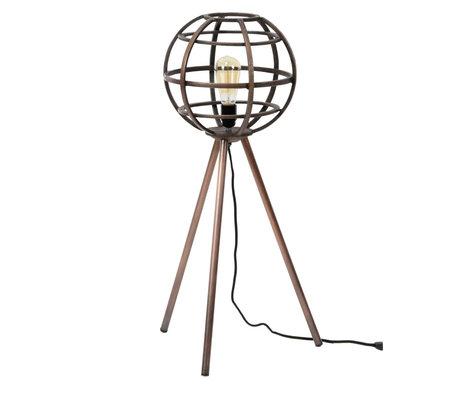 wonenmetlef Floor lamp Boaz antique copper metal Ø40x83cm