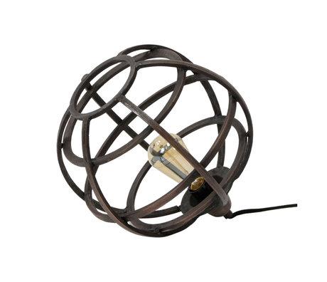 wonenmetlef Table lamp Boaz antique copper metal Ø33x30cm