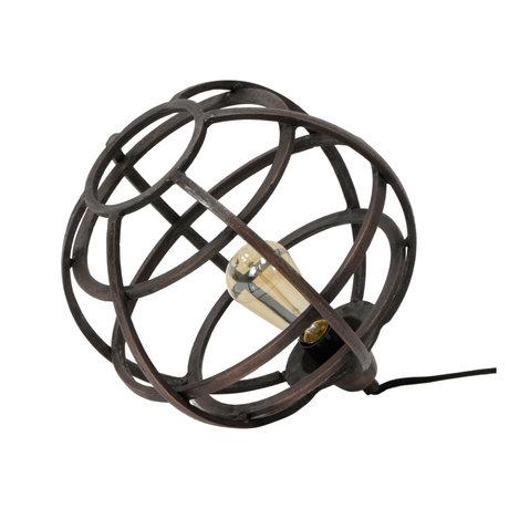 wonenmetlef Lampe à poser Boaz en cuivre antique Ø33x30cm