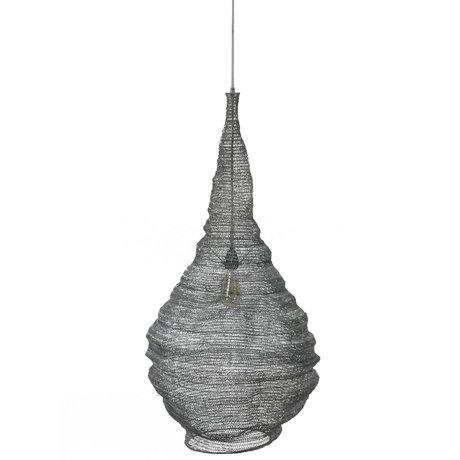 wonenmetlef Suspension Hope métal gris Ø50x150cm