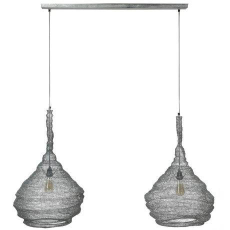 wonenmetlef Suspension Hope 2 lumière gris métal 130x45x150cm