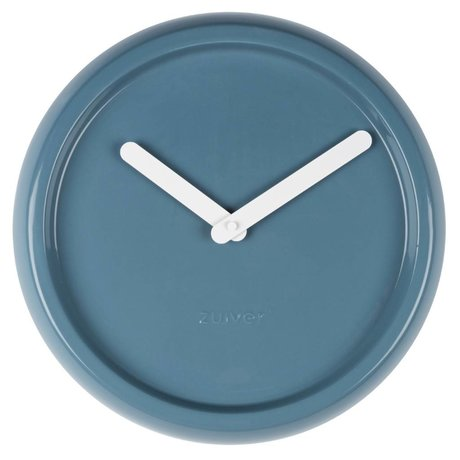 Zuiver Clock ceramic blue with white hands Ø35x10cm
