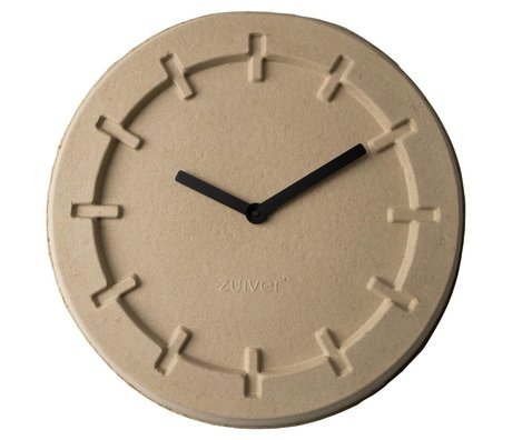 Zuiver Pulp clock brown with black hands Ø46x5,5cm