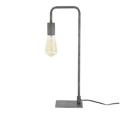wonenmetlef Tafellamp Just oud zilver metaal 14x16x50cm