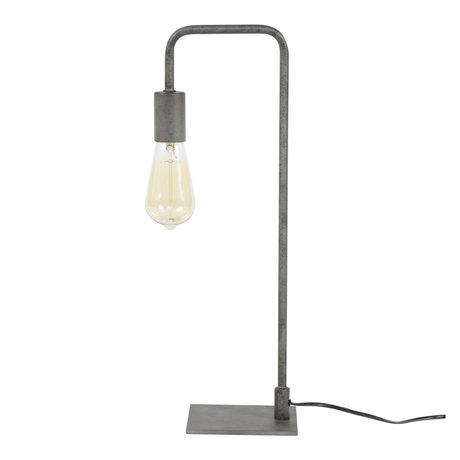 wonenmetlef Just lampe de table ancienne en métal argenté 14x16x50cm