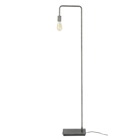 wonenmetlef Just floor lamp old silver metal 18x28x150cm