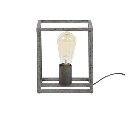 wonenmetlef Tafellamp Quint oud zilver metaal 18x18x21cm