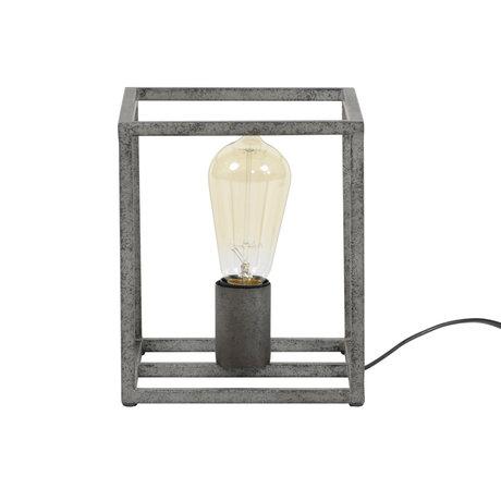wonenmetlef Tischlampe Quint alt Silber Metall 18x18x21cm