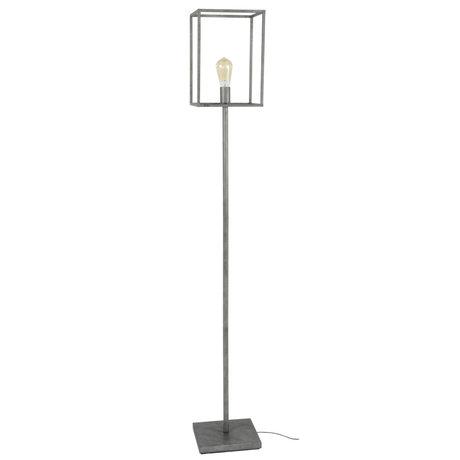 wonenmetlef Vloerlamp Quint oud zilver metaal 25x25x170cm