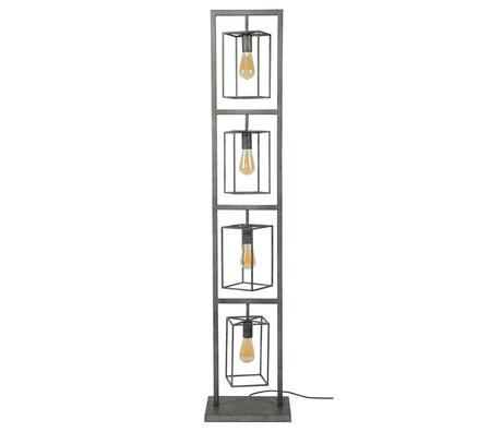 wonenmetlef Stehleuchte Quint 4-light Altsilber Metall 34x24x160cm
