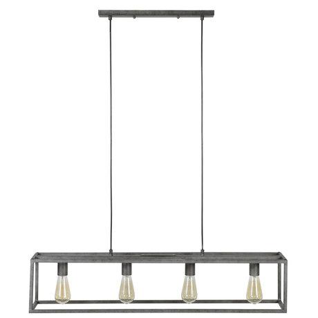 wonenmetlef Hängelampe Quint 4-light Altsilber Metall 98x18x150cm