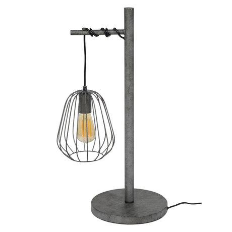 wonenmetlef Lampe de table Skip vieux métal argenté 35x25x66cm