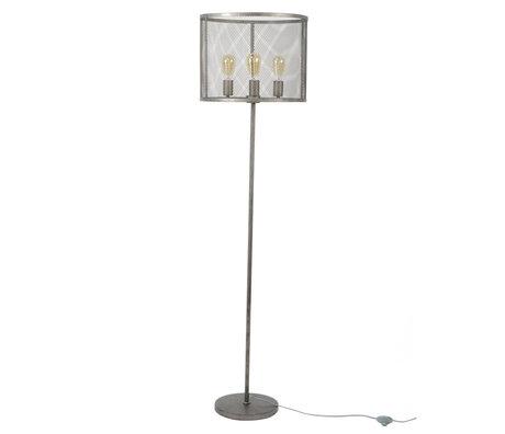 wonenmetlef Stehlampe Gigi Gitter alt Silber Metall Ø45x170cm