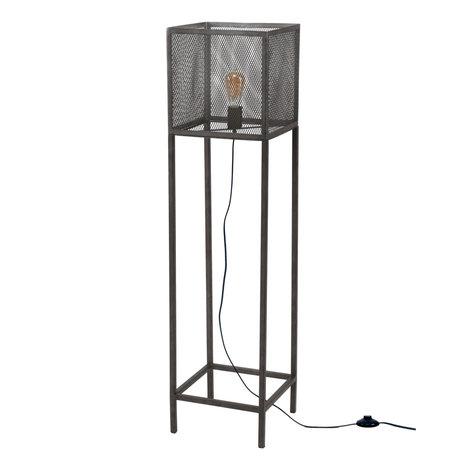wonenmetlef Stehlampe Madison Altsilber Metall 30x30x120cm