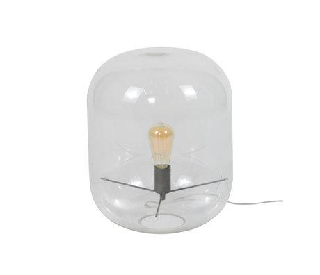 wonenmetlef Alec table lamp transparent glass Ø35x45cm