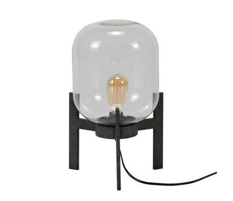 mister FRENKIE Tischlampe Dean Altsilber Glas Stahl Ø28x44cm