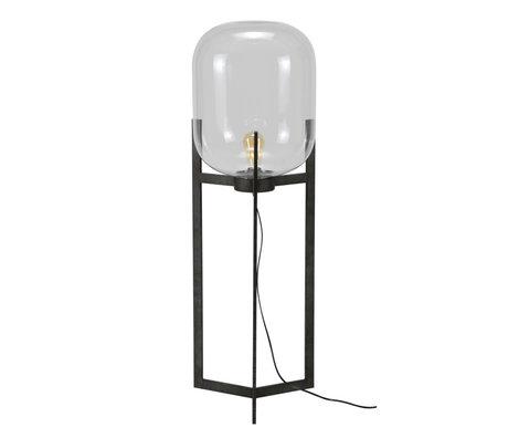 mister FRENKIE Vloerlamp Dean oud zilver glas staal Ø38x110cm