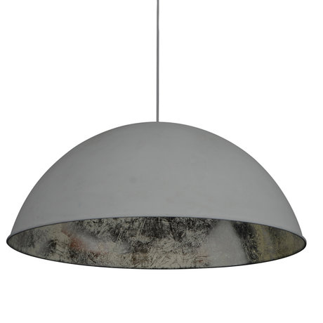 wonenmetlef Hängelampe Dex grau Silber Metall Ø80x150cm