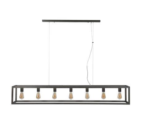 wonenmetlef Hanglamp Kay 7-lichts zilver metaal 170x25x150cm