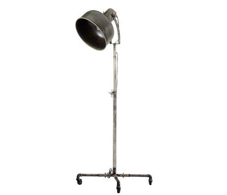 wonenmetlef Vloerlamp Ivar Industry oud zilver metaal Ø62x145cm