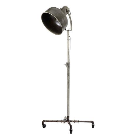 wonenmetlef Floor lamp Ivar Industry old silver metal Ø62x145cm