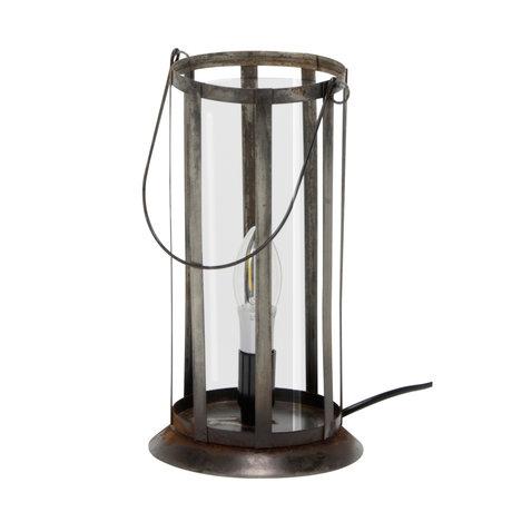 wonenmetlef Tafellamp Joy oud zilver metaal Ø12x29cm