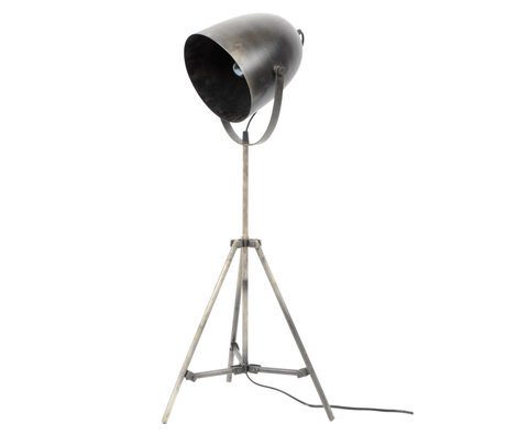 wonenmetlef Floor lamp Maxe silver metal Ø38x85cm