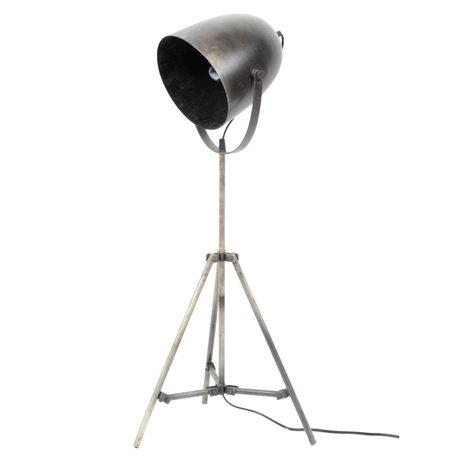 wonenmetlef Vloerlamp Maxe zilver metaal Ø38x85cm
