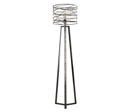 wonenmetlef Memphis charcoal floor lamp gray metal Ø40x162cm