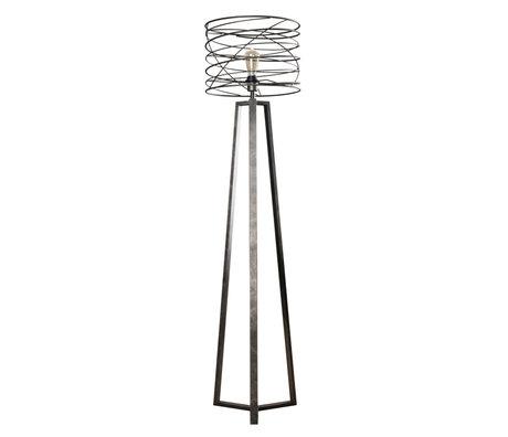 wonenmetlef Memphis Kohle Stehleuchte grau Metall Ø40x162cm