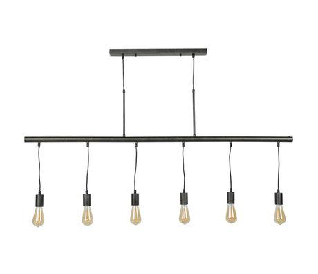 wonenmetlef Jules hanging lamp 6-light charcoal gray metal 150x8x150cm