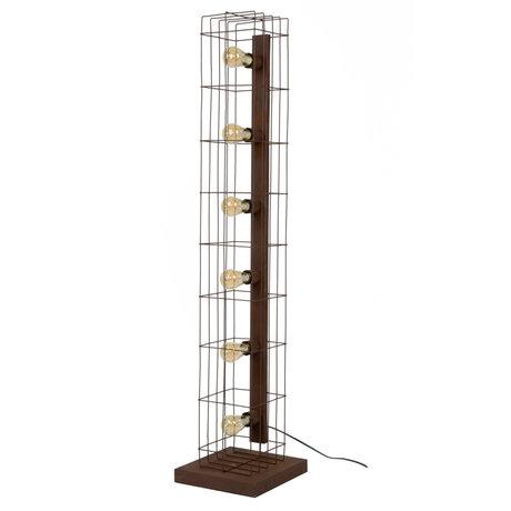 wonenmetlef Joshua lampadaire 6 métal brun clair rouille 30x30x145cm