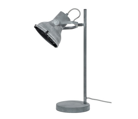 wonenmetlef Table lamp Pax concrete gray metal 18x25x55cm