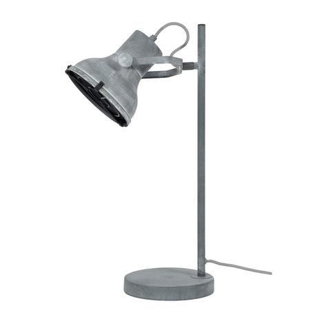 wonenmetlef Tafellamp Pax beton grijs metaal 18x25x55cm