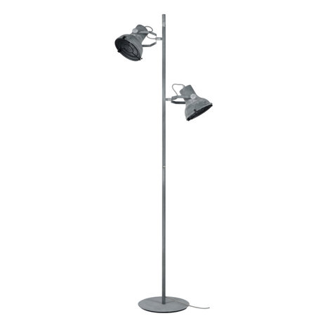 wonenmetlef Floor lamp Pax 2-light concrete gray metal 46x29x156cm