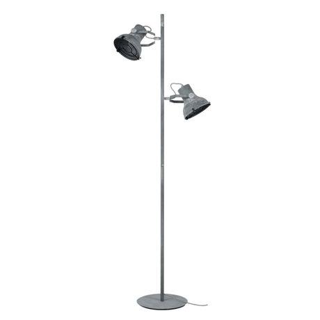 wonenmetlef Stehleuchte Pax 2-light Beton grau Metall 46x29x156cm