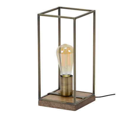 wonenmetlef Lampe de table Jazz bronze antique acier 15x15x32cm