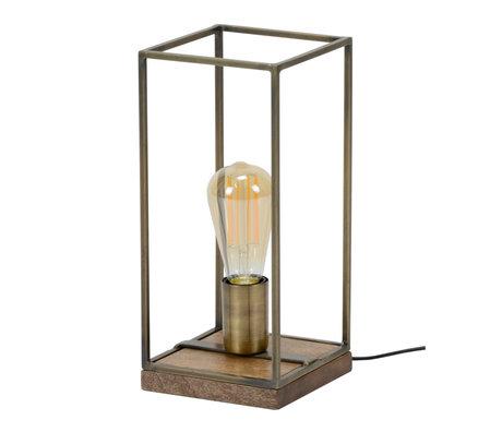 wonenmetlef Tafellamp Jazz antiek brons staal 15x15x32cm