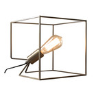 wonenmetlef Tischlampe Jen Antique Bronze Stahl 25x25x25cm