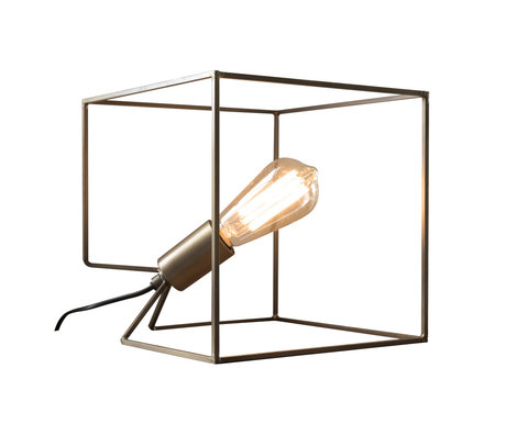 wonenmetlef Lampe de table Jen bronze antique acier 25x25x25cm