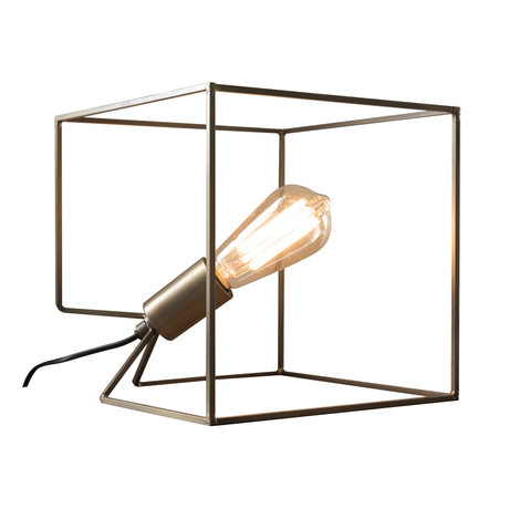 wonenmetlef Table lamp Jen antique bronze steel 25x25x25cm